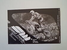 advertising Pubblicità 1977 SPEED MODE e MOTO KTM e MOISSEEV