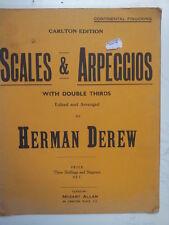 Piano Scales & arpèges Herman derew Carlton Edition
