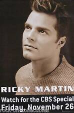 RICKY MARTIN '99 SOLD OUT TOUR CBS SPECIAL PROMO POSTER