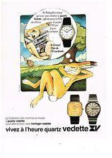 PUBLICITE ADVERTISING 054 1979  VEDETTE  montre quartz GRAND PRIX