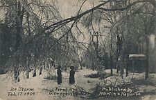 GLOVERSVILLE NY – Ice Storm at First Avenue February 17, 1909