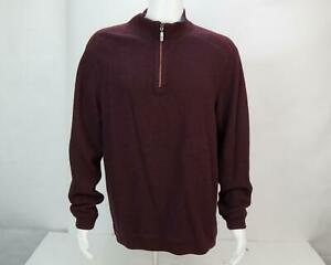 Vintage Tommy Bahama Men's Pullover Long Sleeve Half Zip Sweater Maroon XL