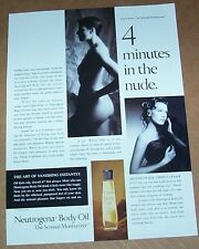 1994 print ad - Neutrogena body beauty sexy nude girl vintage Advertising Page