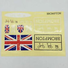 Free Shipping Brompton bicycle custom frame decal sticker set titanium