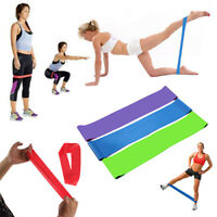 KM_  Elastic Yoga Stretch Resistance Exercise Fitness Band Theraband Strap Bel