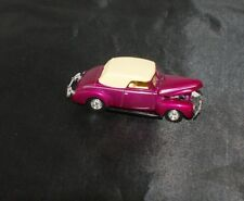 100% HOT WHEELS '40 FORD CONVERTIBLE STREET ROD SHOW CAR RUBBER TIRE LIMITED