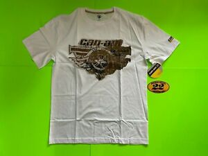 Can-Am Roadster Men's White Relax T-Shirt  **BRAND NEW**