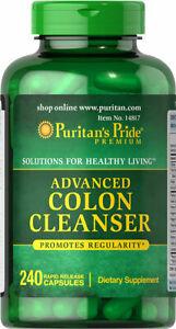 Puritan's Pride Advanced Colon Cleanser Supplement Healthy Living 240 Capsules