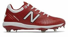 New Balance Low-Cut 4040v5 Metal Baseball Cleat Mens Shoes Red with White