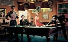 MARILYN MONROE HUMPHREY BOGART JAMES DEAN PLAYING POOL 36x24 POSTER print