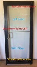 GLASS Storefront Door LH offset-pivot 3X7 Bronze anodized w-GLASS & Closer