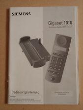 Bedienungsanleitung für Siemens Schnurlostelefon Gigaset 1010