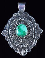 Sterling Silver Navajo Pendant Gem Grade Damale Handmade By Sunshine Reeves