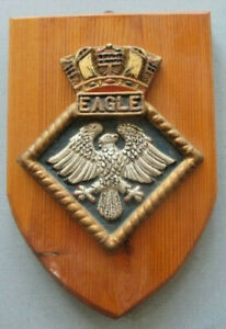 HMS Eagle painted plaster wall plaque