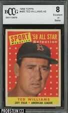 1958 Topps #485 Ted Williams Boston Red Sox HOF BCCG 8