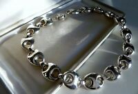 ✨FAB✨ 73g sterling silver 925 fully HM HEAVY mariner link choker collar necklace