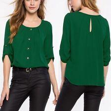 Women's OL Loose Long Sleeve Chiffon Casual Blouse Shirt Tops Fashion Blouse New
