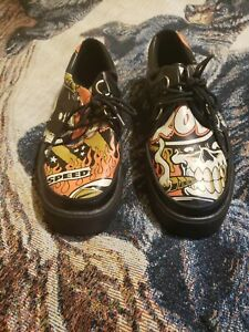 T.U.K. Jer Aker Creeper Hot Rod Style Shoes Sneakers Limited Edition Mens Sz 7