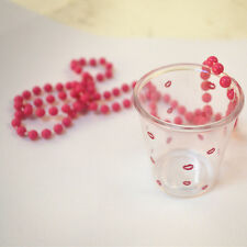 12pcs Hen Party Lips Shot Glasses With Pink Necklace - Hen Party Accessories