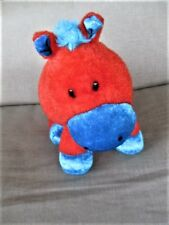 "Sugar Loaf Brand Horse 12"" Bright Orange/Blue Plush Stuffed 2008"