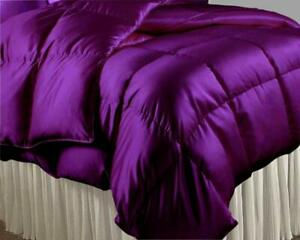 Home Satin Silk 1 PC or 5 PC Comforter Set 1000 TC US Full & Solid Color