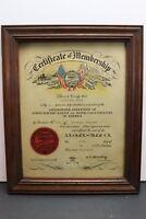 Vintage 1940's Amalgamated Motor Coach Employee Bus Driver Certificate Oak Ridge