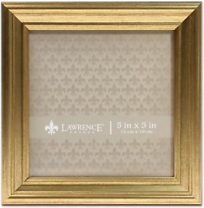 Lawrence Frames 5x5 Sutter Burnished Gold Picture Frame