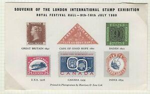 GREAT BRITAIN - 1960 LONDON INTERNATIONAL STAMP EXHIBITION SOUVENIR SHEET