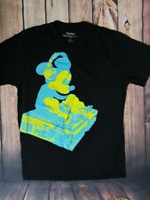 Mens Black Disney Mickey Mouse DJ Walt Disney World Resort T-shirt Size Medium