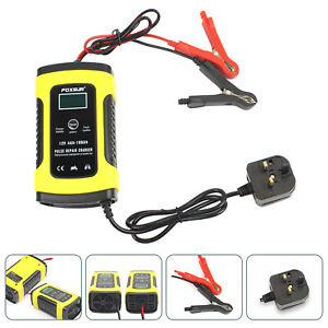 12V Smart Intelligent Car Battery Charger Automatic Pulse Repair Starter Chargin