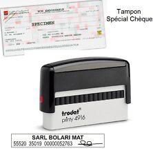 tampon spécial chèque trodat ref 4916  1 ou2 lignes  70 x 10 mm pré encré