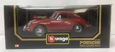 ●NEW BURAGO 1/18 PORSCHE 356B COUPE 1961 RED #3021 DIECAST CAR ● 1/18