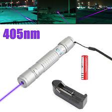 Tactical 5mw 405nm Green Purple 18650 Laser Pointer Pen Visible Beam Light Lazer
