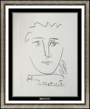 Pablo Picasso Etching Pour Ruby Tete Portrait Signed Authentic Cubism Artwork