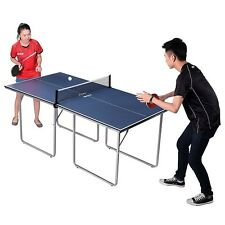 JOOLA Midsize Table Tennis Table with Net and Post Set, in Blue-Gray, 19110 New