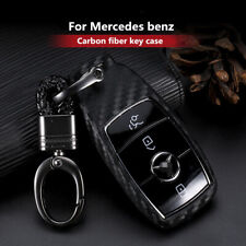 1x Carbon Fiber Look Car Key Case Cover For Mercedes-Benz E-Class E43 C257 W213