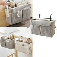 Bedside Pockets Gadget Storage Holder Book Bed Organizer Couch Hanging Bag