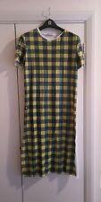 Size 18 Zara Sequined Full Length Checked Tee Shirt Dress 90s