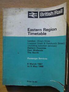 British Railways Eastern Region Public Timetable 1967/68, supplement, maps