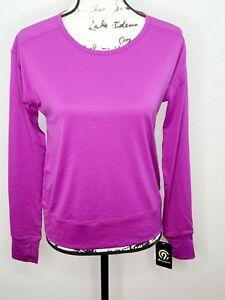 Champion C9 Duo Dry Women's Running Purple Long Sleeve Mesh Athletic Shirt New