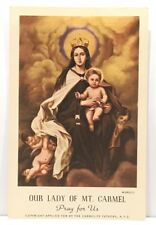Our Lady Of Mt Carmel, Vintage Holy Devotional Card