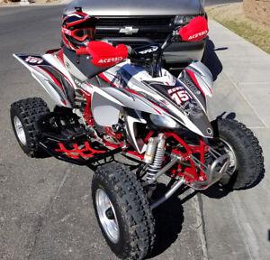 Yamaha YFZ 450 graphics kit 2003 2004 2005 2006 2007 2008-13 #5600 Red