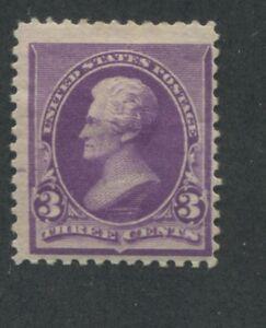 1890 US Stamp #221 3c Mint Hinged Fine Original Gum Catalogue Value $55