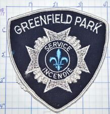 CANADA, GREENFIELD PARK FIRE SERVICE INCENDIE QUEBEC PATCH