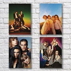 Maneskin Poster A4 Set HQ Print Damiano David Home Wall Decor