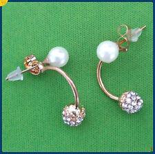 Fashion  rhinestone crystal diamond ball drop stud earring  free shipping