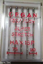 ORGAN DOMESTIC SEWING MACHINE NEEDLES SUPER STRETCH MIX SIZE FIT BROTHER JANOME