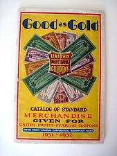 "Fantastic 1931-32 Redemption Booklet for ""United Profit-Sharing Coupons"" *"