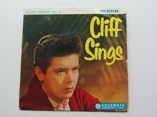 CLIFF RICHARD ORIGINAL 1959  UK   E P   CLIFF SINGS No 4
