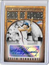 KEITH HERNANDEZ 2008 TOPPS RING OF HONOR WORLD SERIES AUTOGRAPH